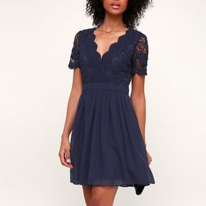 Angel in Disguise Navy Dress